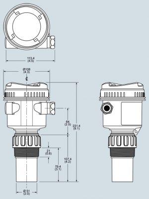 Dimensional drawings Probe LU240